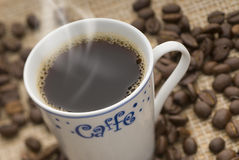 CUP OF COFFEE. Delicious hot cup of  coffee Royalty Free Stock Images