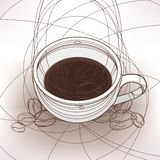 Cup of the coffee. Image of the cup of the coffee royalty free illustration
