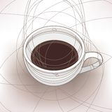 Cup of the coffee. Image of the cup of the coffee vector illustration