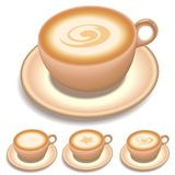 Cup Of Coffee. Coffee cup with different cream shape stock illustration