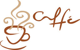 Cup of coffee. With hand drawn illustration ideal for a logo or a background stock illustration
