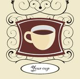 Cup of coffee. Vector drawing of the cup of coffee Royalty Free Stock Photo