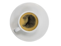 Cup of coffee. Espresso on white background Stock Photo