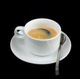 Cup of coffee. With spoon Stock Photo