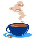 Cup of coffee. This is a steaming cup of coffee that can be used to advertise just coffee Royalty Free Illustration