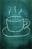 Cup of coffee. A cup of coffee drawn with a chalk on a blackboard Royalty Free Stock Photography
