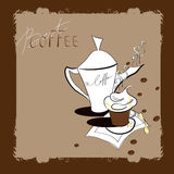 A cup of coffee. Retro stylized template with a cup of coffee Royalty Free Stock Images