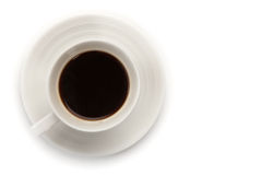 Cup of Coffee. Cup of Hot Coffee on a White Isolated Background Stock Images