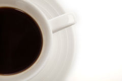 Cup of Coffee. Cup of Hot Coffee on a White Isolated Background Royalty Free Stock Images