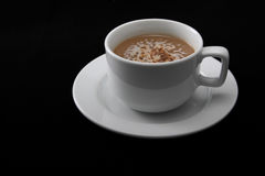 A  cup of coffee. A delicious cup of coffee or hot chocolate Stock Photo