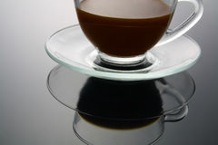 Cup of Coffee. With Reflection Stock Images