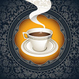 Cup of coffee. Vintage background with cup of coffee Royalty Free Stock Images