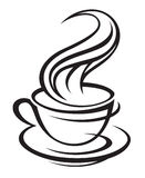 Cup of coffee. Abstract coffee cup and saucer Royalty Free Stock Photography