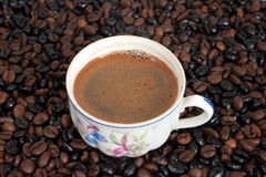 The cup of coffee Stock Photos