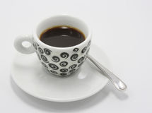 Cup of coffee. On white background Stock Photography