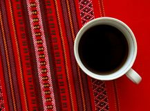 A cup of coffee. Royalty Free Stock Photography