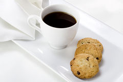 Cup of coffee. And cookies Royalty Free Stock Photos