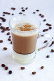 Cup of coffee. With milk Stock Photography
