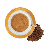Cup of coffee. On a white background Royalty Free Stock Photos