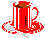 Cup of coffee in the  Stock Image