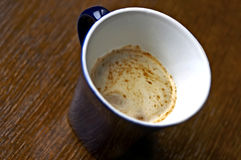 Cup of coffee. Top view of a cup of coffee Royalty Free Stock Photos