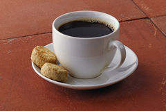 Cup of coffee. Coffee withh cookies Stock Photos