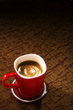 A cup of coffee. On vintage background Stock Photography