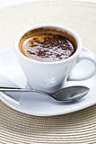 Cup of coffee. Close-up of a delicious cup of coffee or hot chocolate royalty free stock photo