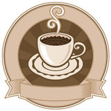 Cup of coffee. Banner with a cup of coffee Royalty Free Stock Images