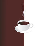 Cup of coffee. Smoking cup of coffee. Vector illustration Stock Photo