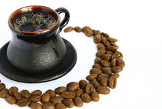 Cup and coffee Stock Images