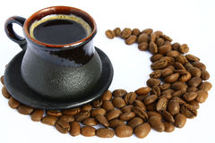 Cup and coffee Stock Photography