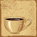 Cup of coffee. In a vintage style Royalty Free Stock Photos