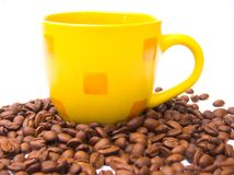 Cup of coffee. Isolated over whitebackground royalty free stock images