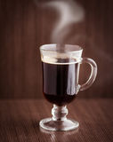 Cup of coffee. With steam Stock Images