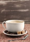 Cup of coffee. With sugar royalty free stock photography