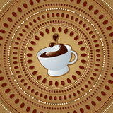 Cup of coffee. Vector illustration of cup of coffee Stock Photography