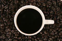 Cup of Coffee. On a wooden table Stock Images