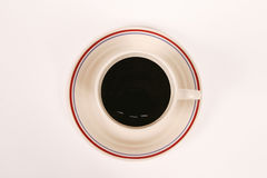 Cup of Coffee. On a wooden table Royalty Free Stock Photo
