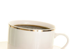Cup of coffee. White cup of dark coffee Stock Images