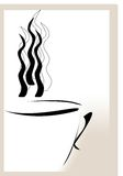 Cup of coffee. Illustartion of modern cup of coffee (or tea) with copyspace Stock Photo