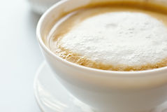 Cup of coffee. With milk froth Royalty Free Stock Images