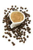 Cup of coffee. Cup of espresso coffee isolated on white Royalty Free Stock Photos