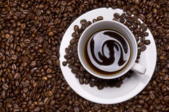 Cup with coffee Royalty Free Stock Images