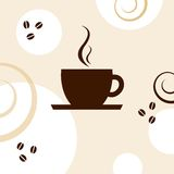 Cup of coffee. Coffee background with copy pace Royalty Free Stock Image