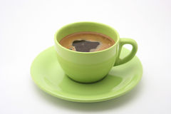 Cup of coffee. On white background stock photo