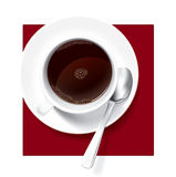 Cup of Coffee. Hands vector image. Vector original is ready to download Stock Images