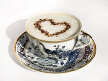 Cup of coffee. With heart symbol Stock Image