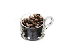 Cup of coffee. Isolated on white Stock Photo