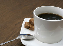 Cup of coffee. With a brown sugar Stock Photos